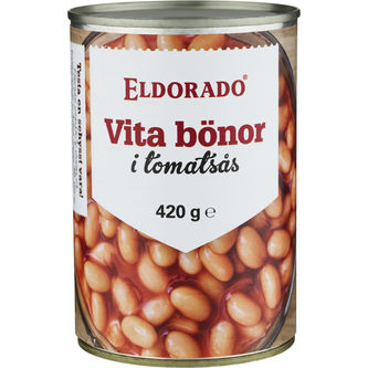 Vita Bönor i Tomatsås 420g Eldorado
