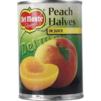 Persikohalvor i Juice 415/235g Del Monte