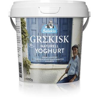 Grekisk Yoghurt Naturell 10% 1kg Lindahls