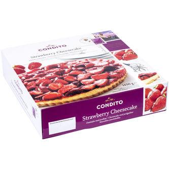 Cheesecake med Jordgubb Fryst 1.45kg Condito