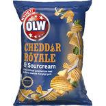 Cheddar Royale & Sourcream Chips Olw 175g