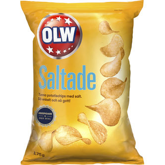 Chips Lättsaltad 175g Olw