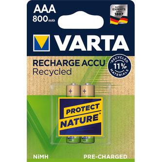 Batteri Aaa Uppladdningsbar 2p Varta