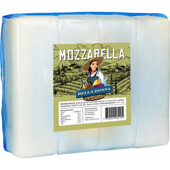 Mozzarellafilé Block 10kg Belladonna