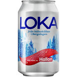 Hallon Kolsyrat Vatten Burk Loka 33cl