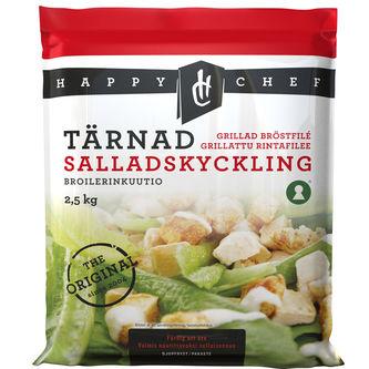 Kyckling Sallads Tärnad Fryst 2.5kg Happy Chef
