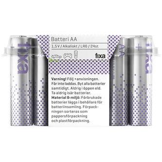 Batterier Aa/lr6 24p Fixa