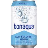 Naturell Kolsyrat Vatten Burk Bonaqua Silver 33clburk