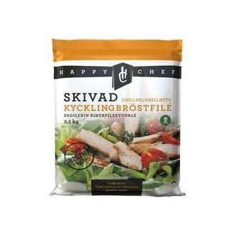 Kycklingbröst Grillat Skivat Fryst 2.5kg Happy Chef