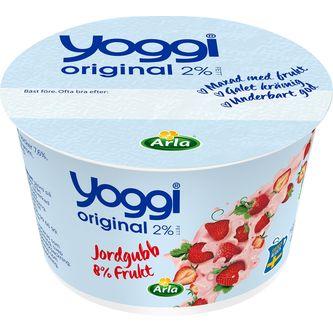 Jordgubb Yoghurt 2% 200g Yoggi