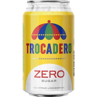 Trocadero Zero Sugar Läsk Burk 33cl Trocadero