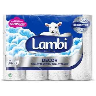 Toalettpapper Dekor 6st Lambi