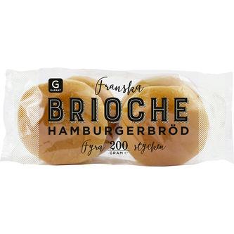 Hamburgerbröd Brioche 4-pack 200g Garant