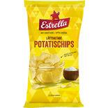 Potatischips Lättsaltade Estrella 175g