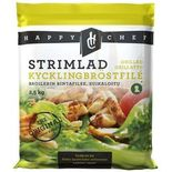 Kyckling Grillad & Strimlad 10mm Fryst Happy Chef 2.5kg