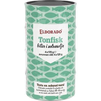 Tonfisk Olja 4st 680g Eldorado