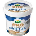 Färskost Naturell Ekologisk 25% Arla 1.5kg