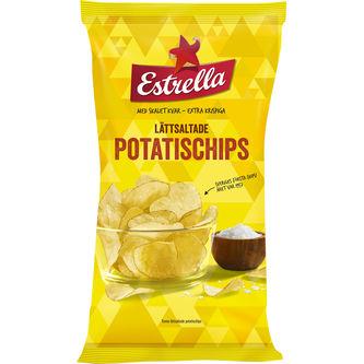 Potatischips Lättsaltade 175g Estrella