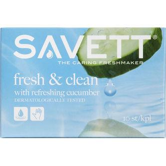 Fresh&clean With Cucumber Våtservett 10st Savett