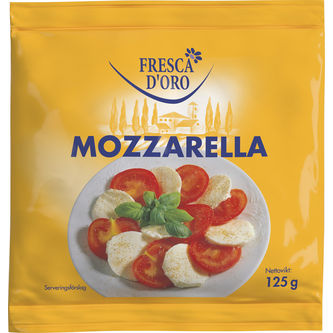 Mozzarella 125g Fresca D´oro