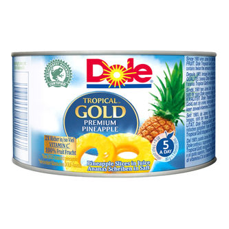 Tropical Gold Pineapple Slices In Juice 227/139g Dole
