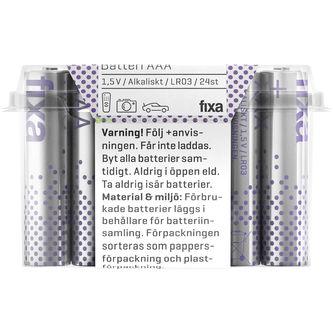 Batterier Aaa 24p Fixa
