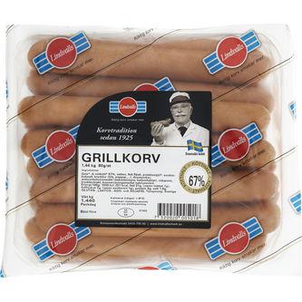 Grillkorv 18-p 1.44kg Lindvalls