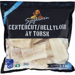 Torsk Centercut/bellyloin Fryst Sjöfarar´n 2,5kg