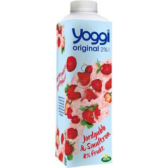 Jordgubb Smultron Fruktyoghurt 2% 1kg Yoggi
